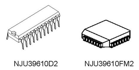 MICROSTEPPING MOTOR CONTROLLER IC NJU39610D2 NJU39610