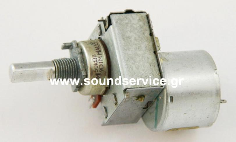 9d1m Rotary Potentiometer Stereo 2x50kb With Motor